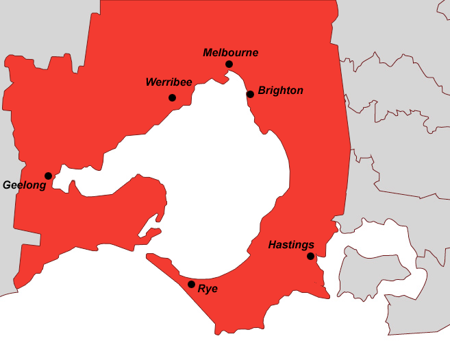 Service locations - Melbourne and Geelong